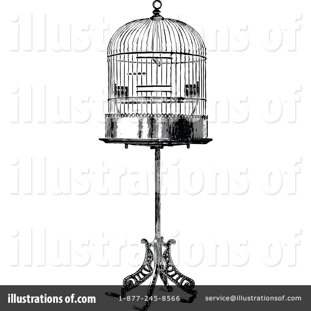 Bird Cage Clipart #1113726 - Illustration by Prawny Vintage