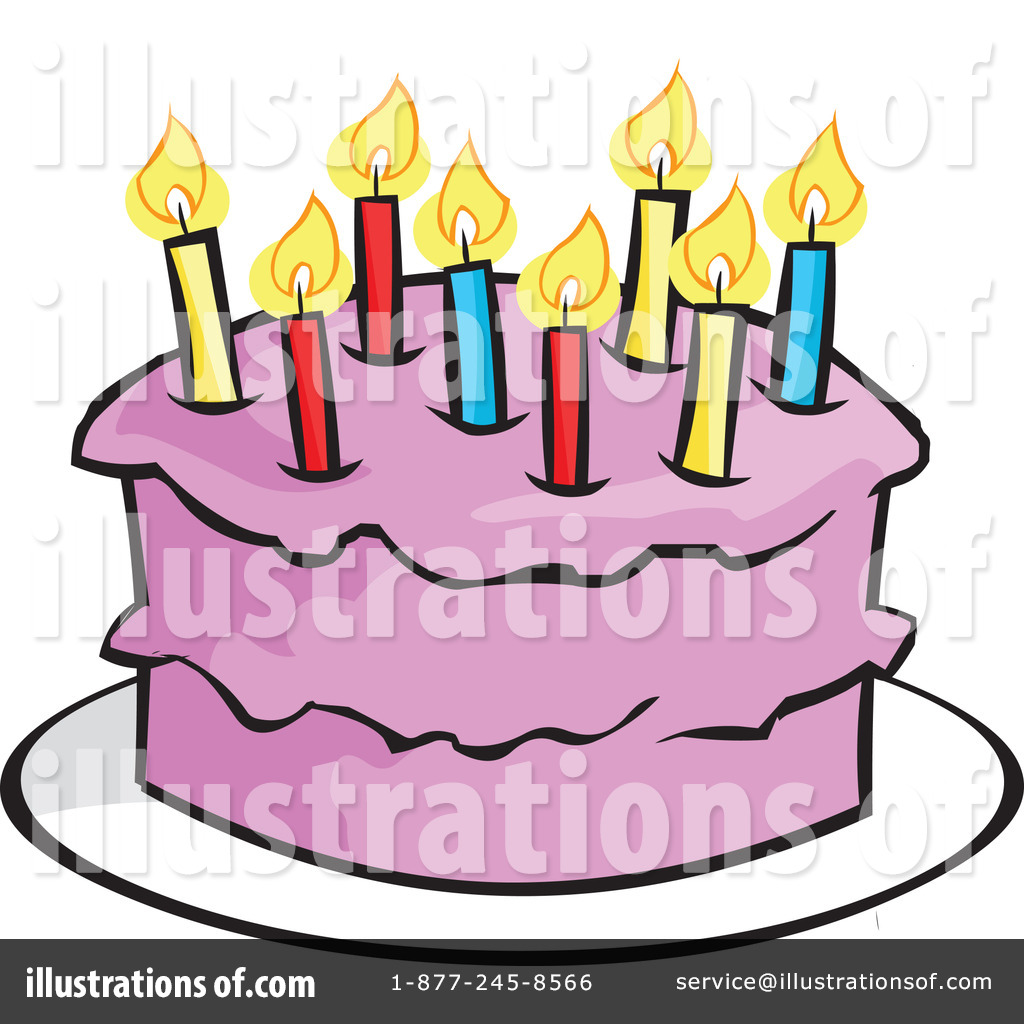 Royalty Free RF Birthday Cake Clipart Illustration By Cartoon Solutions