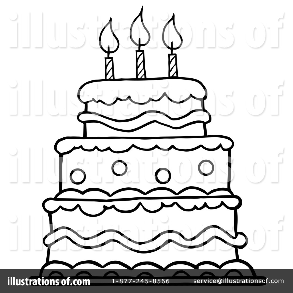 Birthday Cake Clipart 1093688 Illustration By Hit Toon