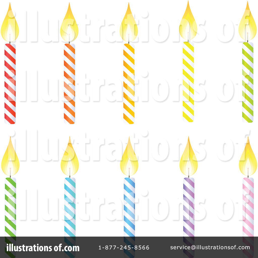 Birthday Candle Clipart #228225 - Illustration by Tonis Pan