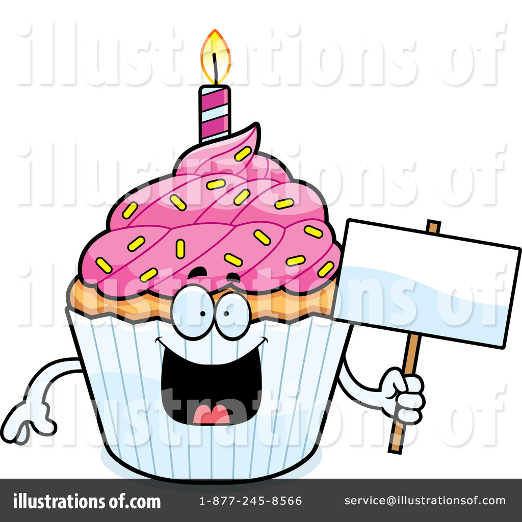 birthday cupcake clipart 1211742 illustration by cory thoman rh illustrationsof com happy birthday cupcake clipart birthday cupcake clipart black and white