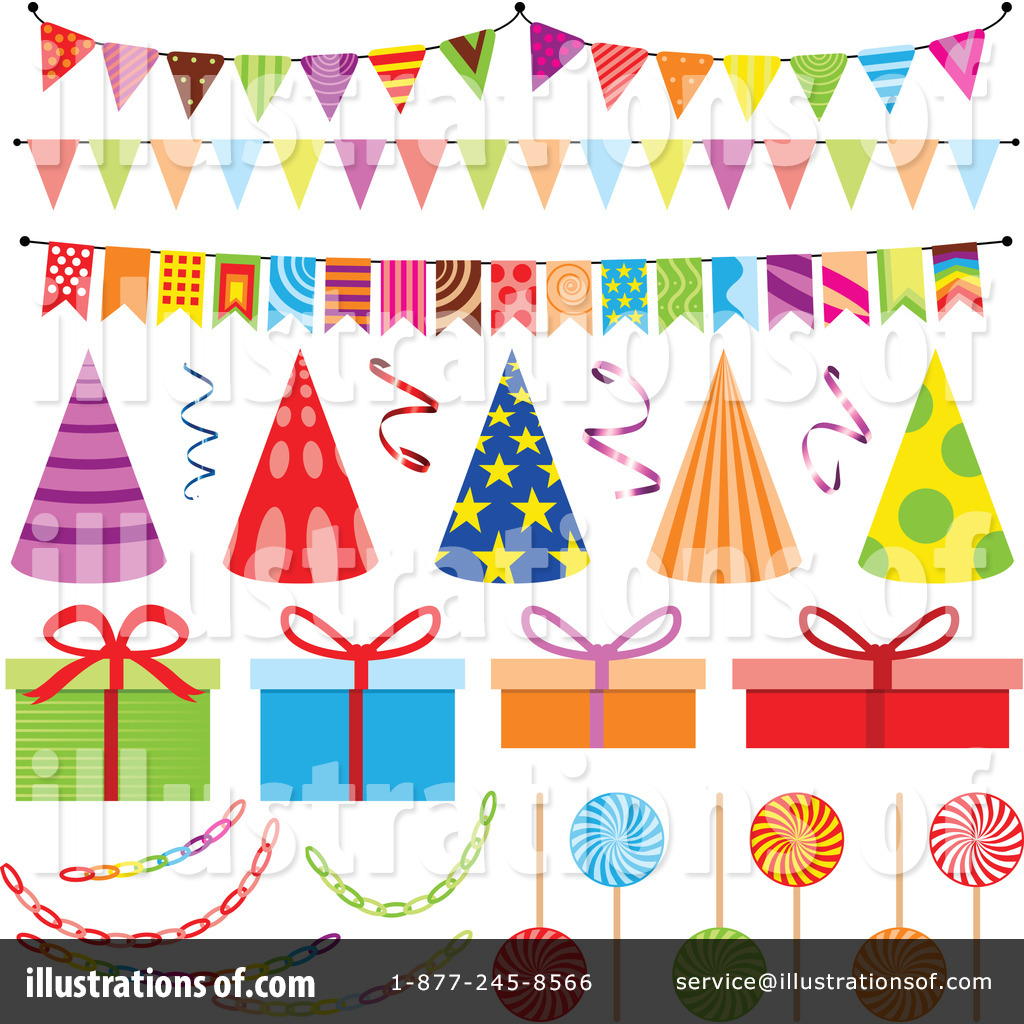 Birthday Party Clipart #1127985 - Illustration by dero