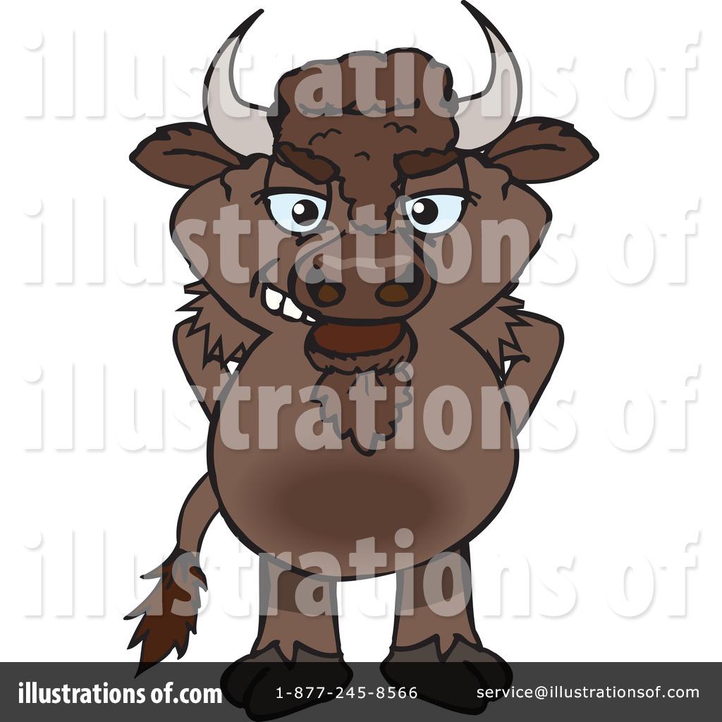 Bison Clipart #1280469 - Illustration by Dennis Holmes Designs