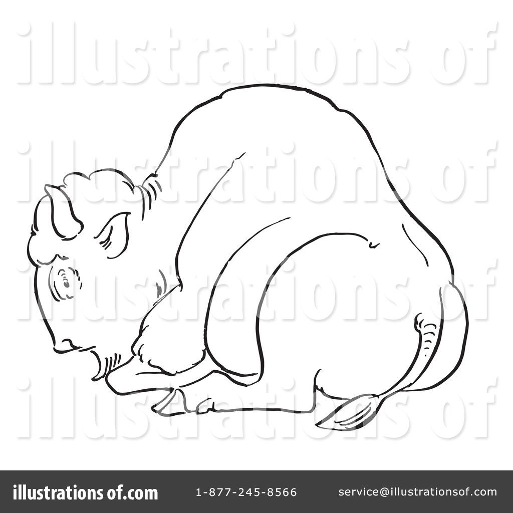 Bison Clipart #1129283 - Illustration by Picsburg