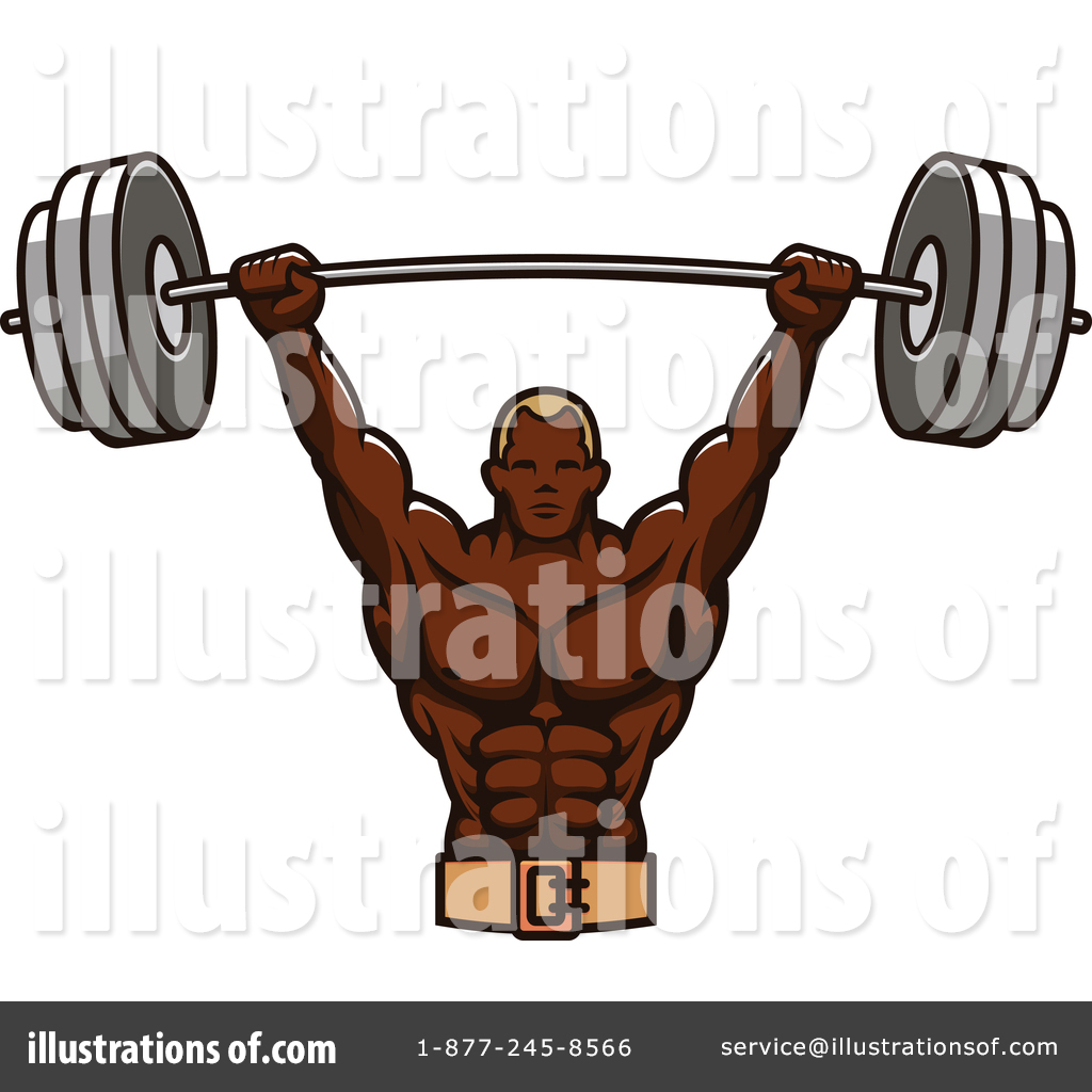 Bodybuilder Clipart #1355767 - Illustration by Vector Tradition SM for Bodybuilding Logos Sample  117dqh