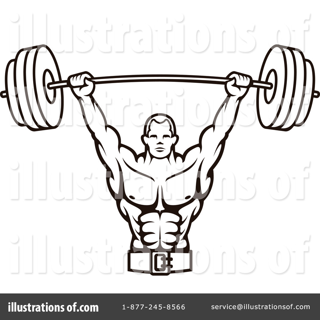 Bodybuilding Clipart #1201648 - Illustration by Vector Tradition SM for Bodybuilding Logos Sample  289ifm