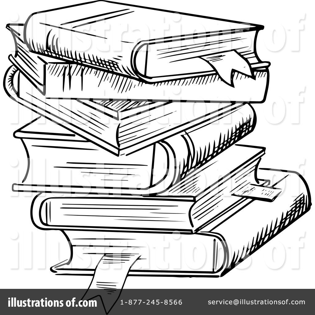 Royalty Free RF Books Clipart Illustration By Vector Tradition SM