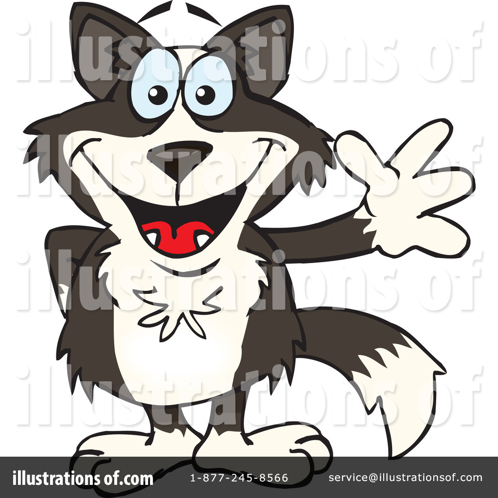 Border Collie Clipart #1278889 - Illustration by Dennis Holmes Designs