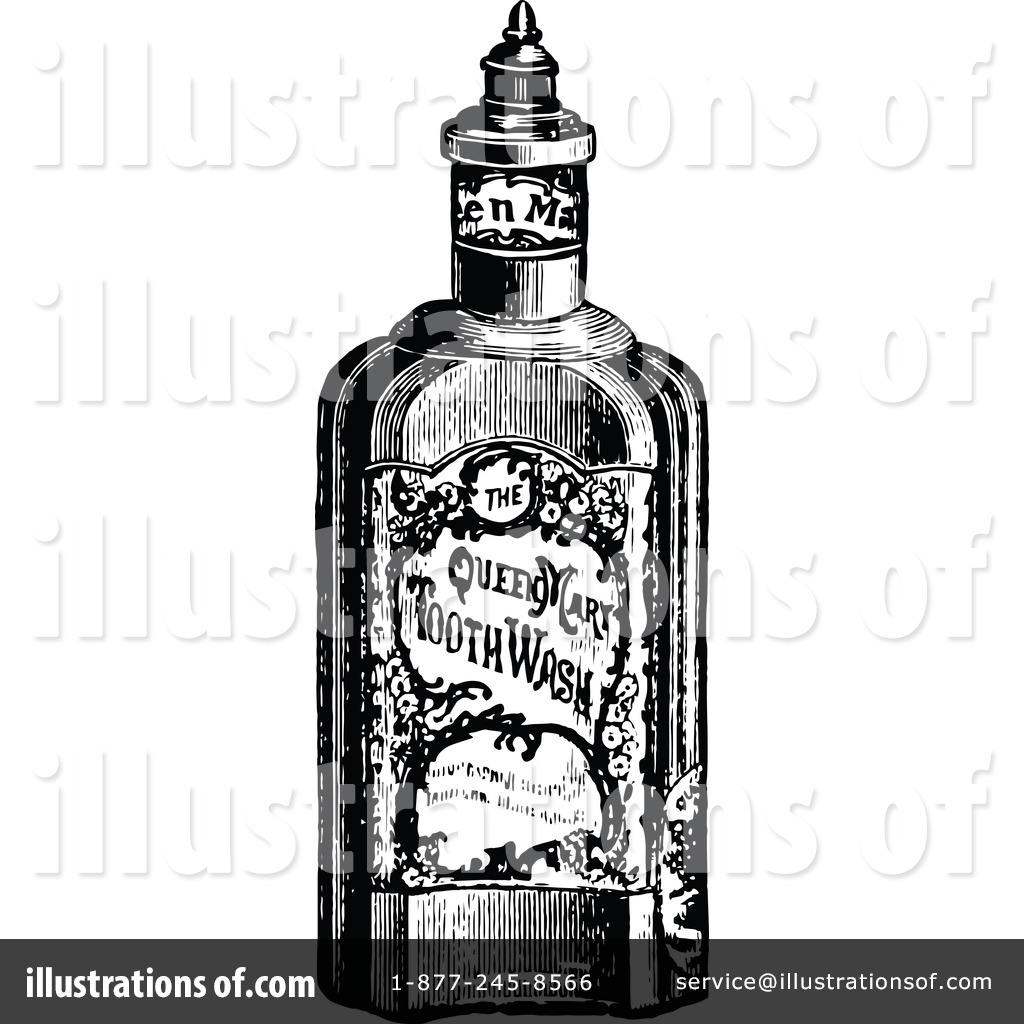 Royalty Free RF Bottle Clipart Illustration 1113766 By Prawny Vintage
