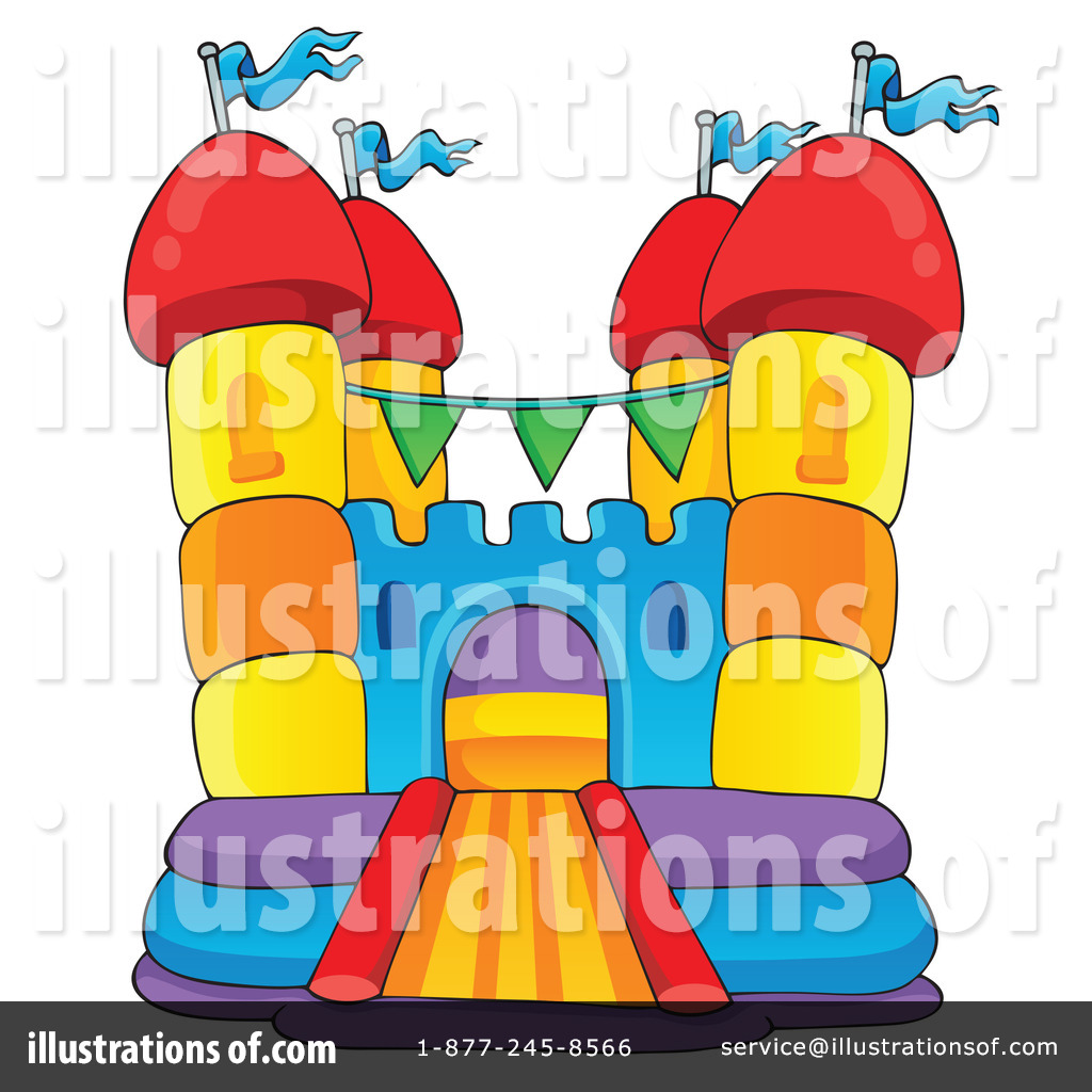Bounce House Clipart #1189547 - Illustration by visekart