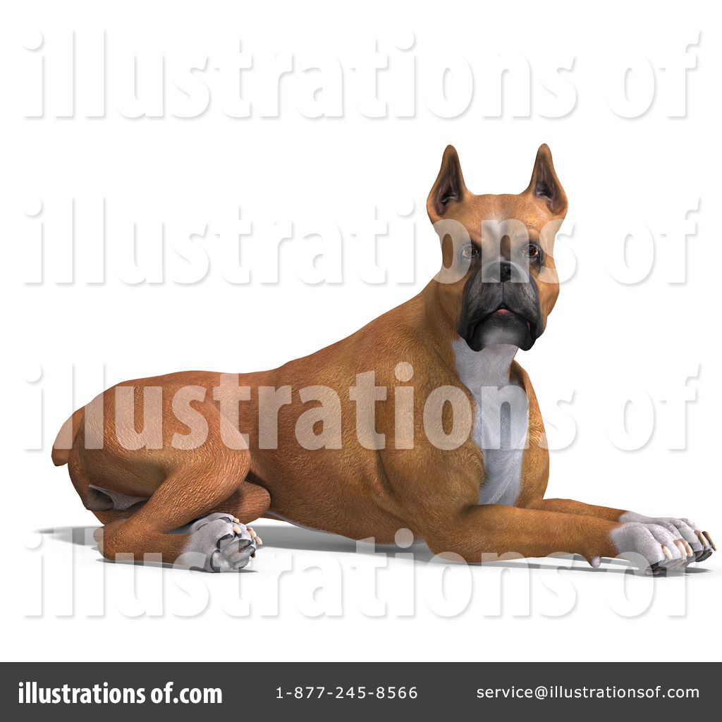 Boxer Dog Clipart #1071182 - Illustration by Ralf61