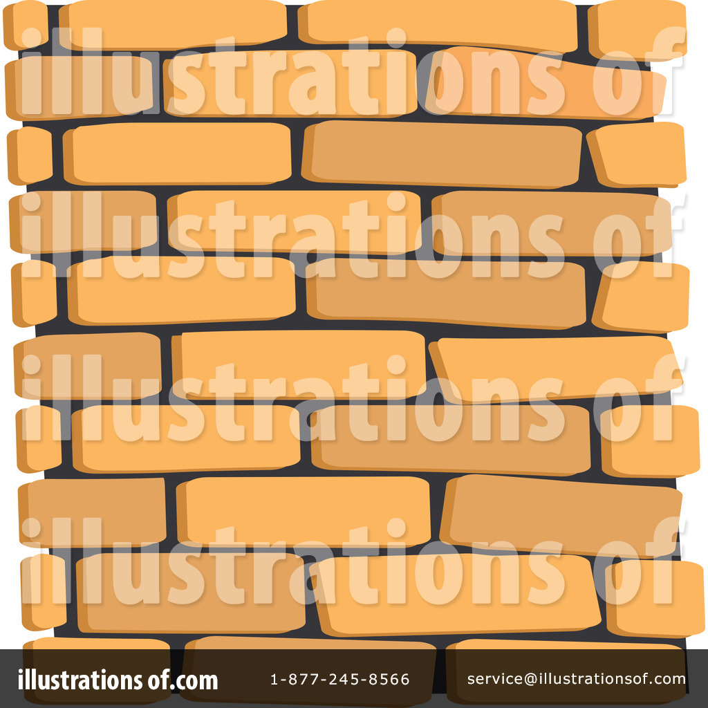 Brick Wall Clipart #1052719 - Illustration by Lal Perera