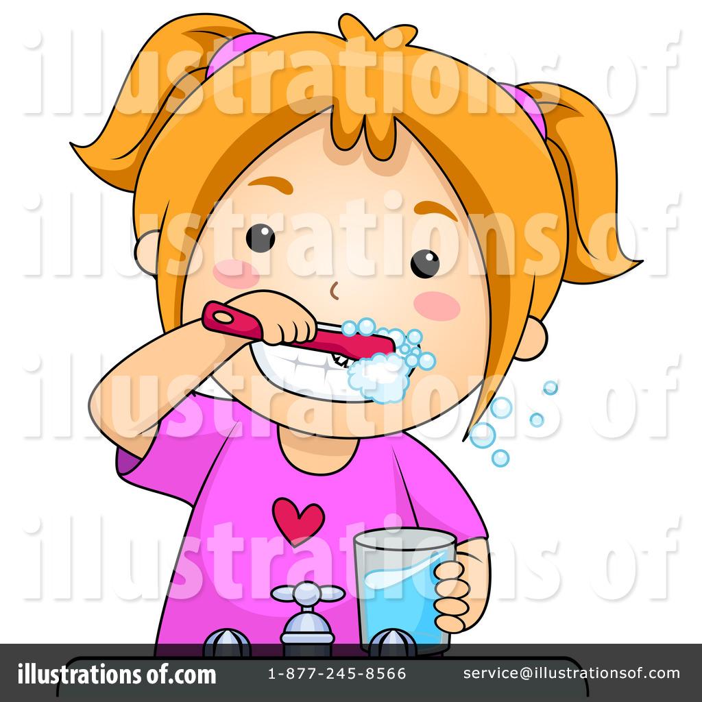 Brushing Teeth Clipart #230317 - Illustration by BNP Design Studio