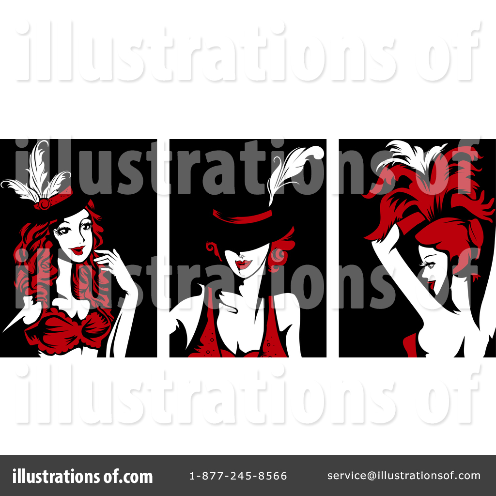 Burlesque Clipart #1372578 - Illustration by BNP Design Studio