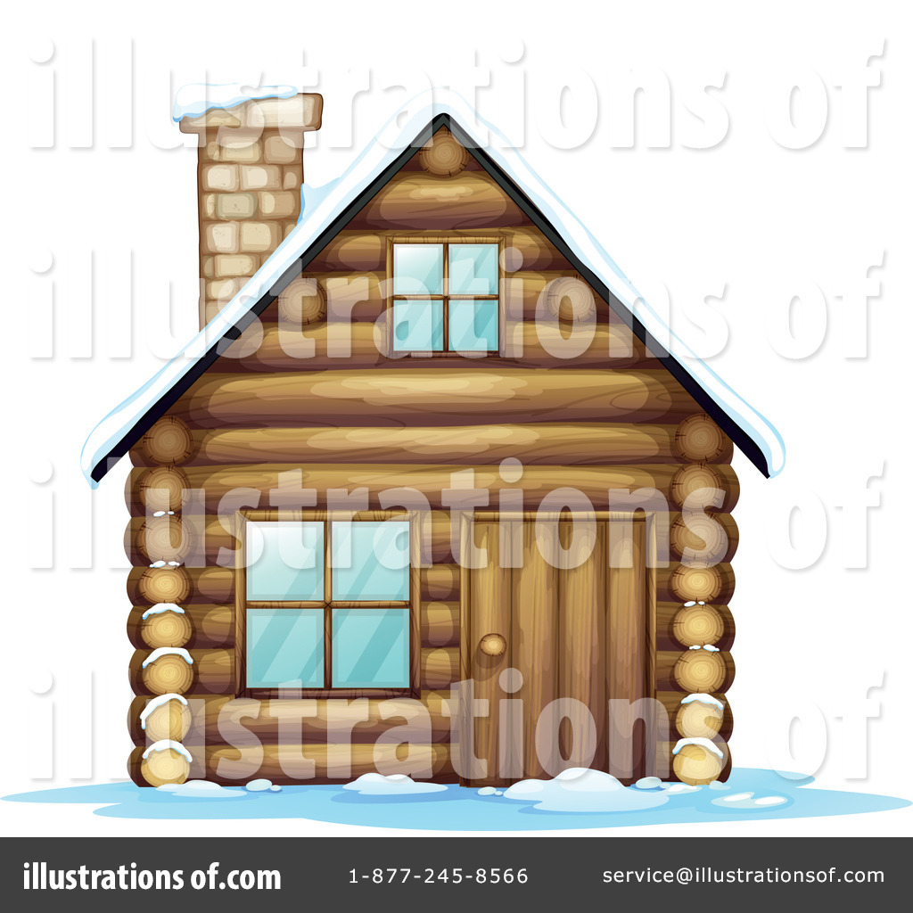 Cabin Clipart #1132833 - Illustration by colematt