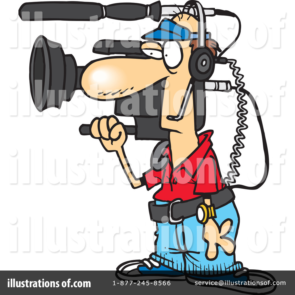 Camera Man Clipart #1046880 - Illustration by toonaday for Camera Equipment Clipart  61obs