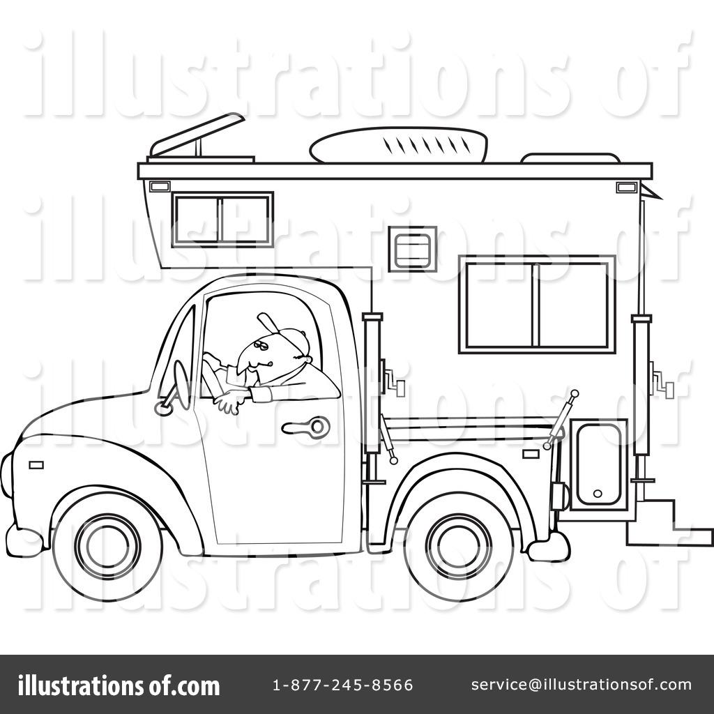 Royalty Free RF Camper Clipart Illustration 1127733 By Djart