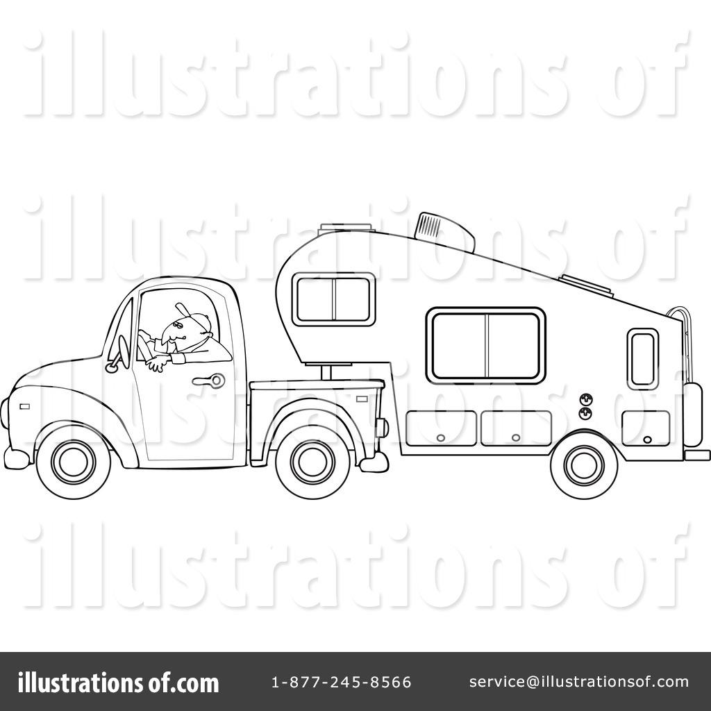 Camper Clipart #1127734 - Illustration by djart