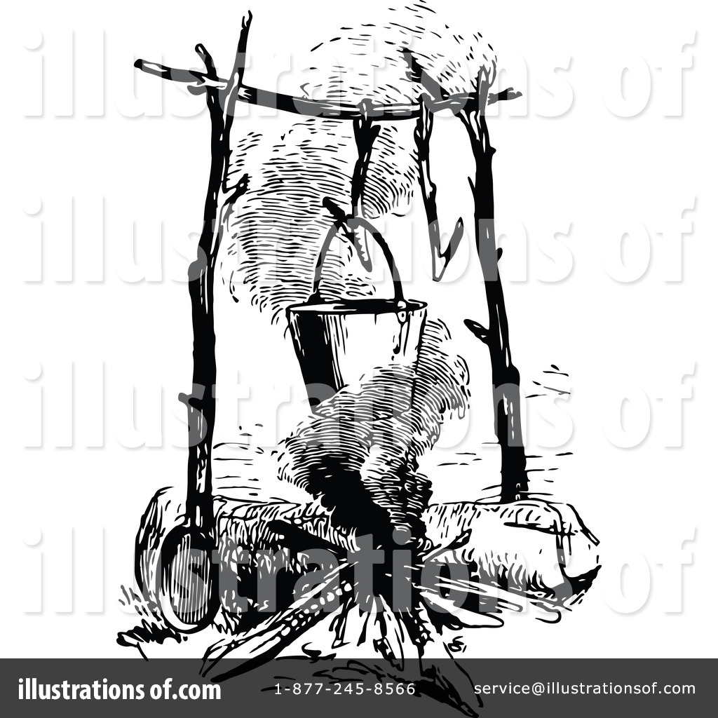Campfire Clipart #1180319 - Illustration by Prawny Vintage