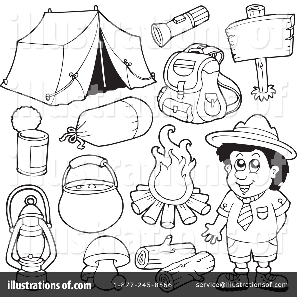 Royalty Free RF Camping Clipart Illustration 231679 By Visekart