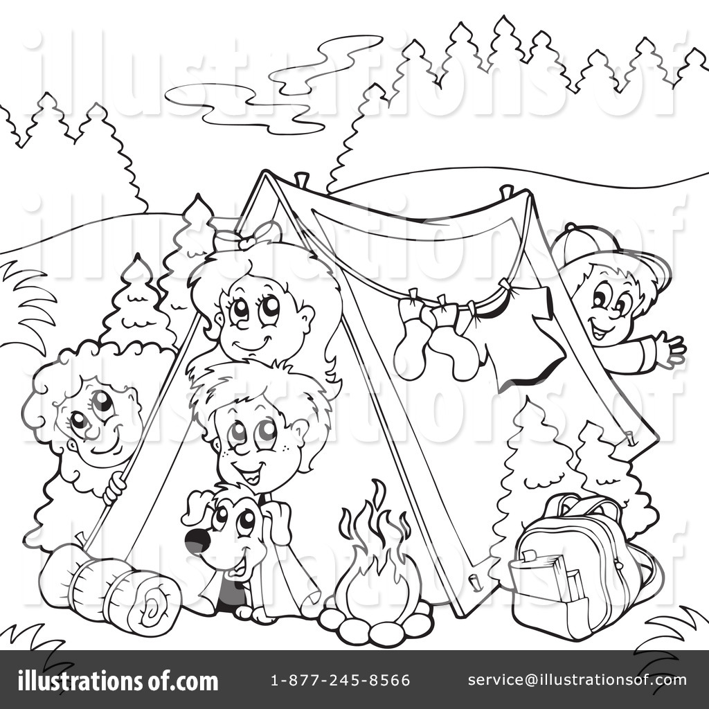 camping clipart 231685 illustration by visekart