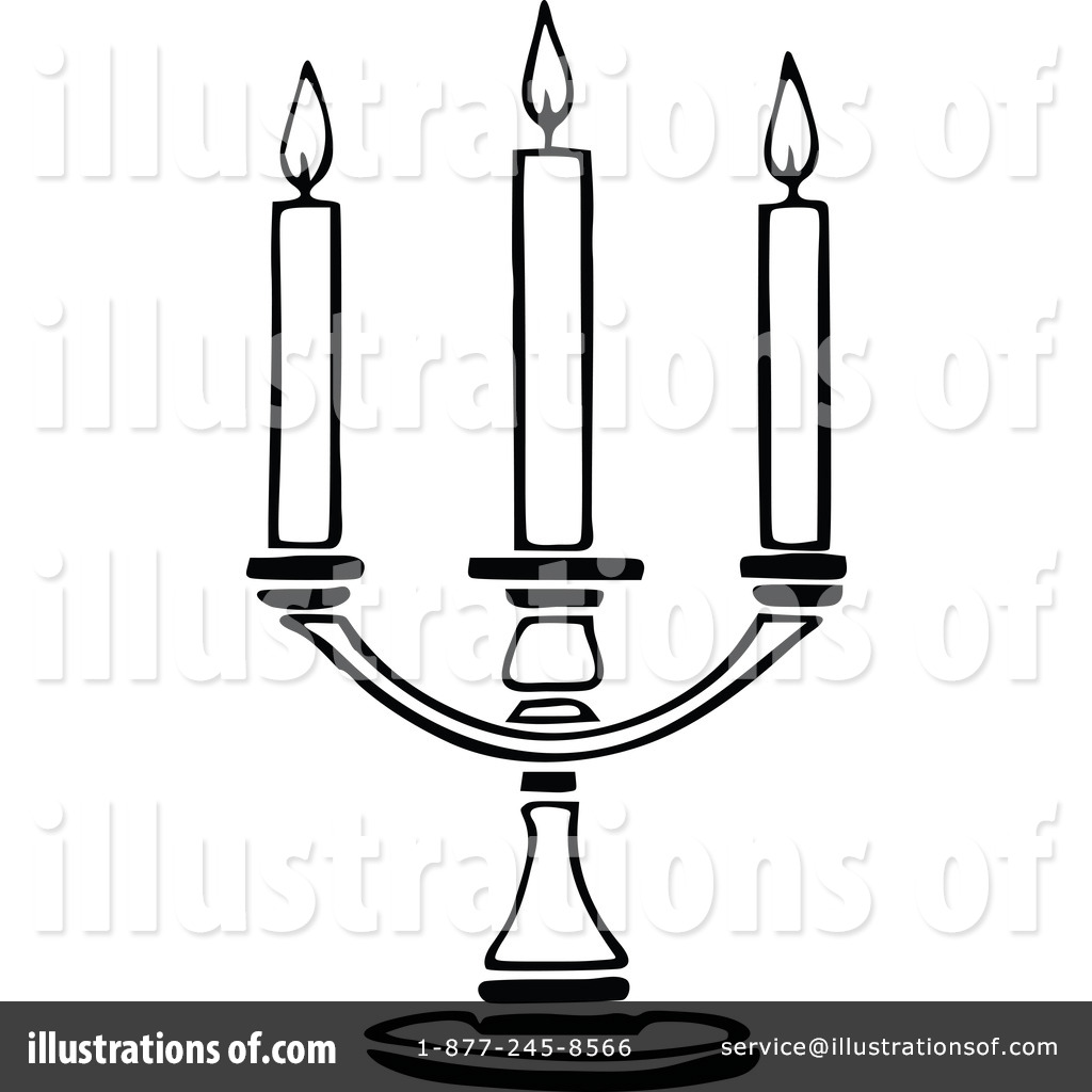 Candle Clipart #1129379 - Illustration by Prawny Vintage for Candle Clip Art Black And White  75tgx