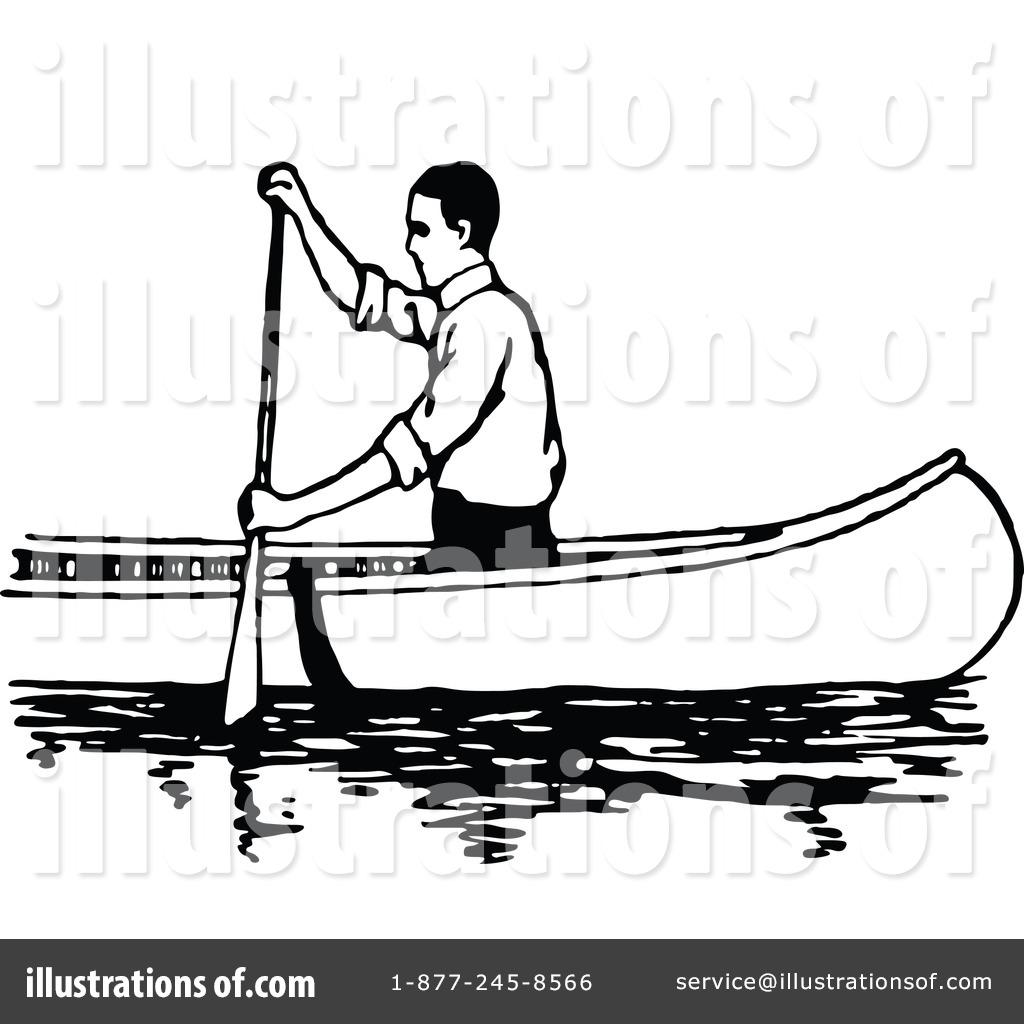 Royalty Free RF Canoe Clipart Illustration 1135180 By Prawny Vintage