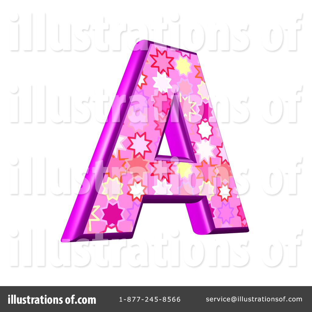 Royalty Free RF Capital Pink Burst Letter Clipart Illustration 436116 By Chrisroll