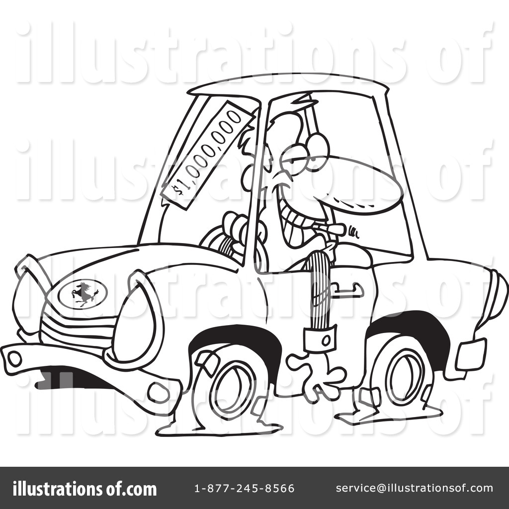 Car Salesman Clipart #443283 - Illustration by toonaday