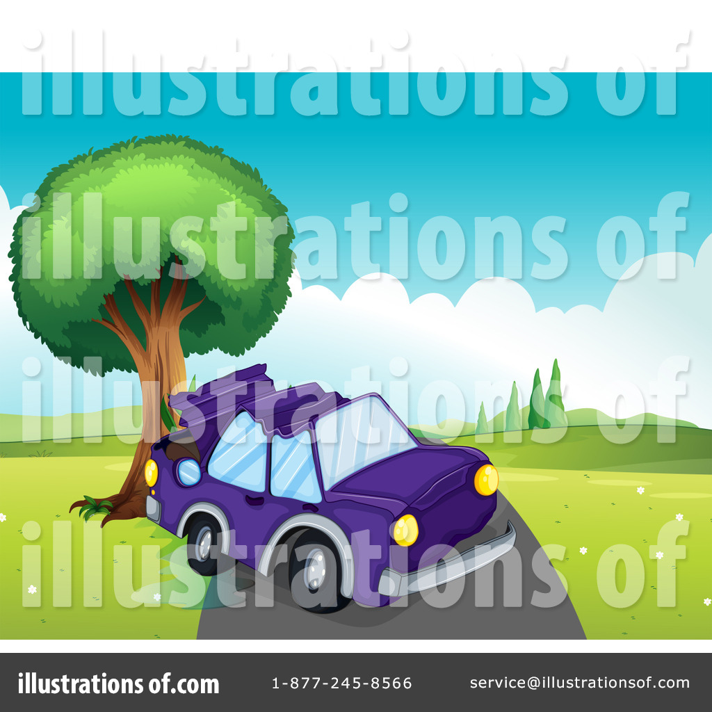 Car Wreck Clipart #1206403 - Illustration by colematt