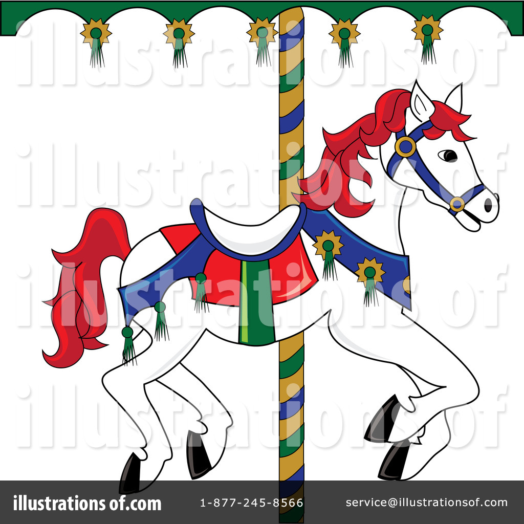 Carousel Horse Clipart 76487 Illustration By Pams Clipart