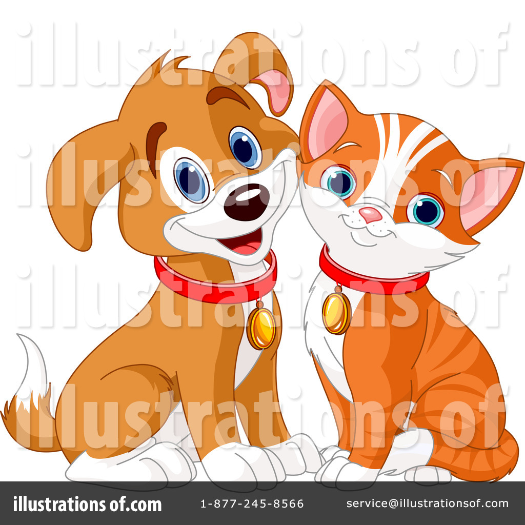cat and dog clipart 1109342 illustration by pushkin rh illustrationsof com cat and dog clippers cat and dogs clip art