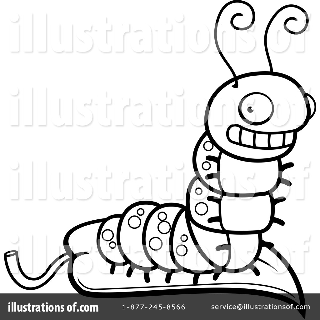 Caterpillar Clipart #1156406 - Illustration by Cory Thoman for Clipart Caterpillar Black And White  300lyp