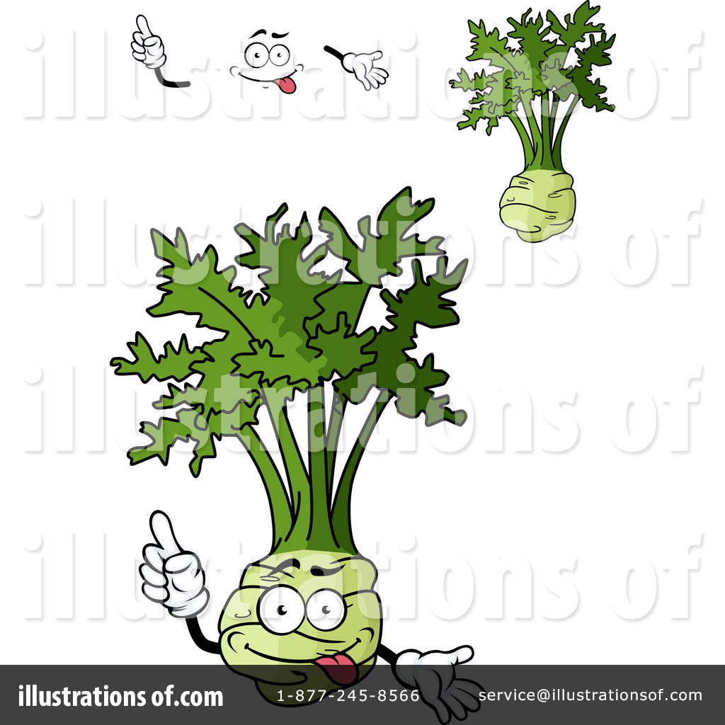 Celery Clipart #1230452 - Illustration by Vector Tradition SM