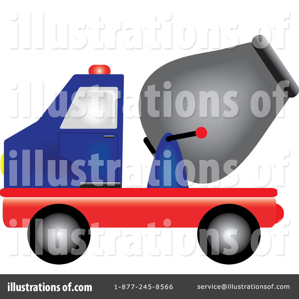 Cement Truck Clipart #211945 - Illustration by Pams Clipart