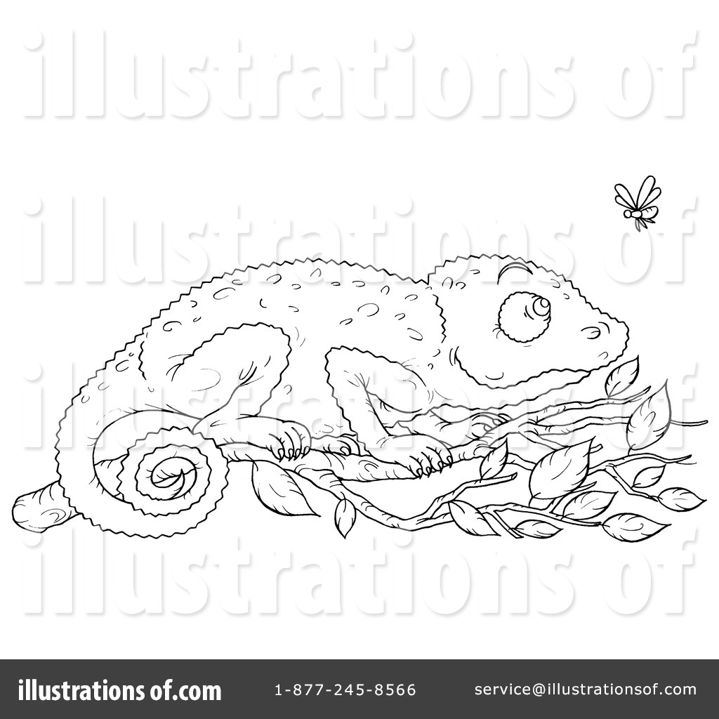 chameleon clipart 1065005 illustration by alex bannykh