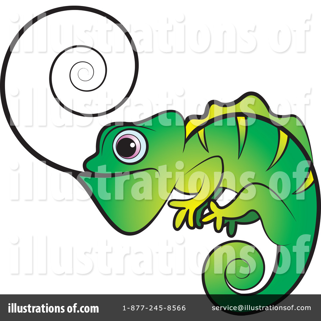 chameleon clipart #1078888 - illustrationlal perera