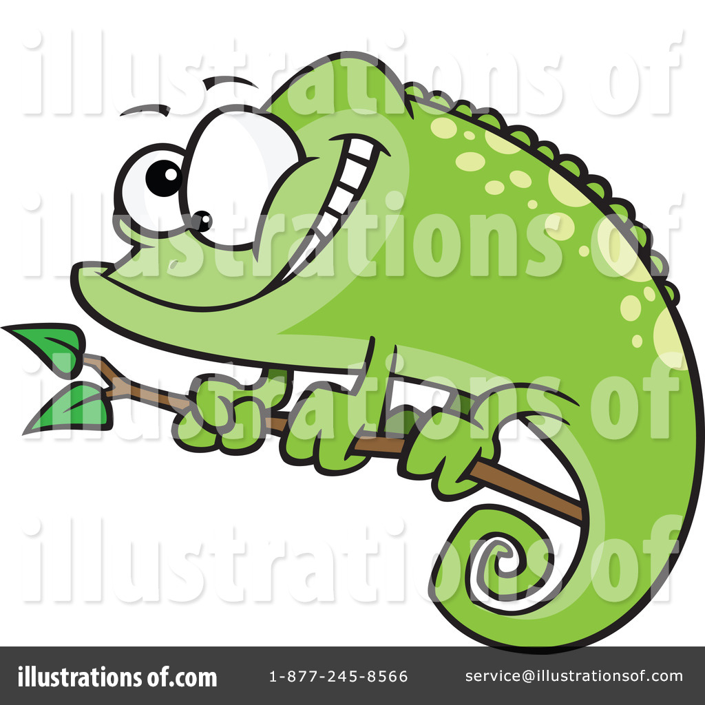 Chameleon Clipart #1100819 - Illustration by Ron Leishman