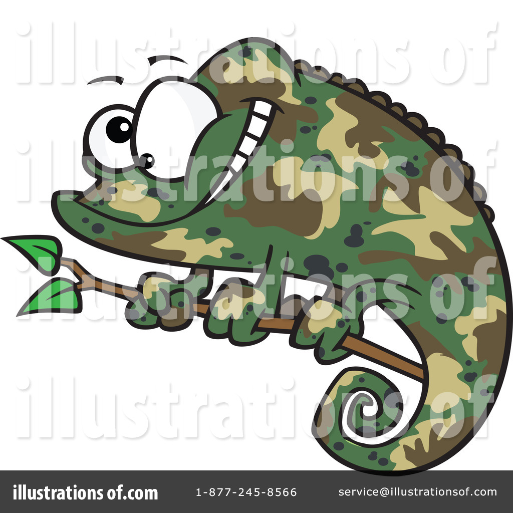 chameleon clipart #1100818 - illustrationtoonaday