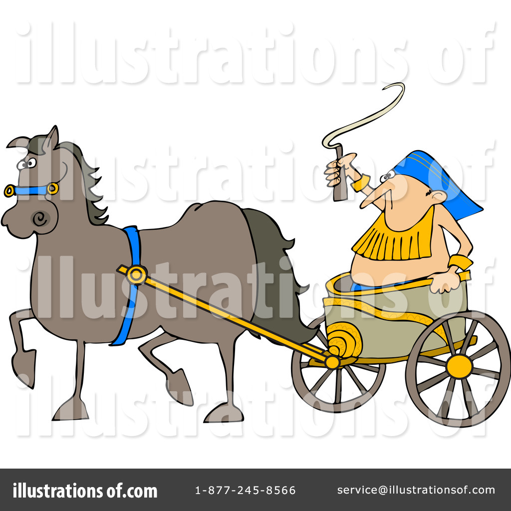 Chariot Clipart #1059517 - Illustration by Dennis Cox