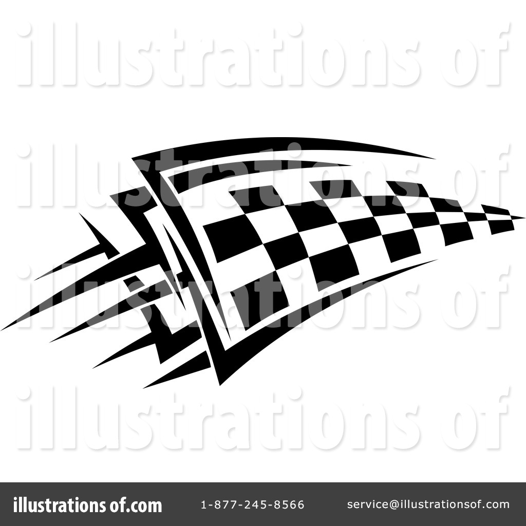 Checkered Flag Clipart #1228268 - Illustration by Vector Tradition SM