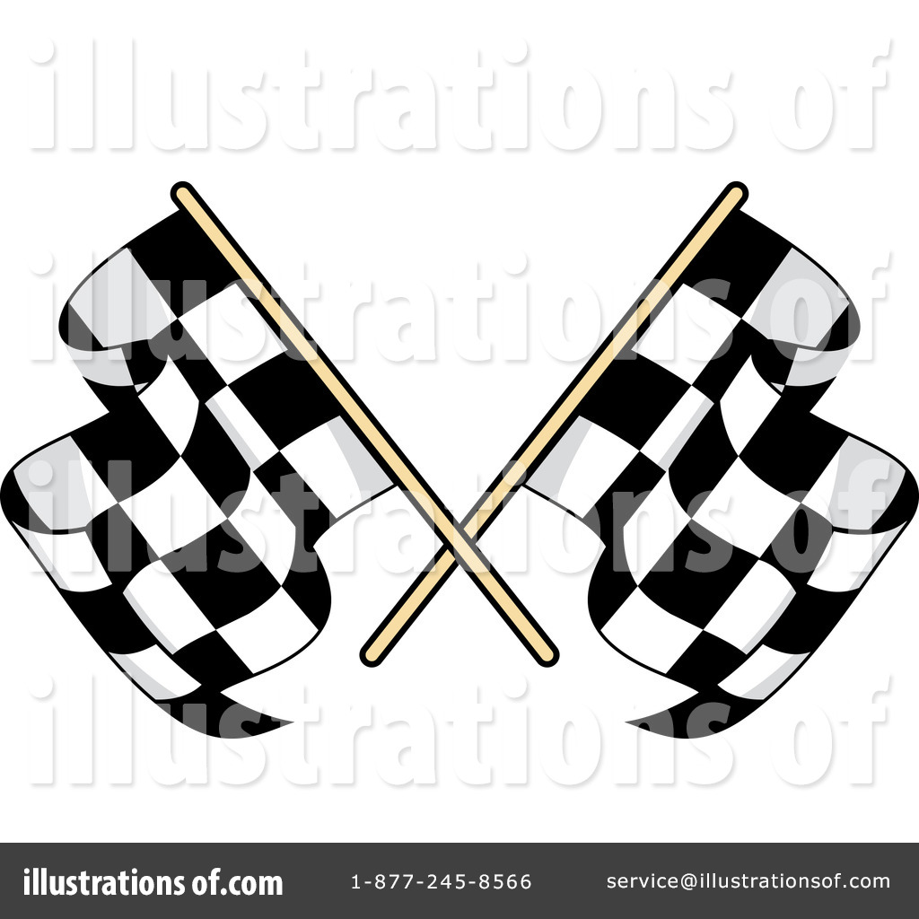 Checkered Flag Clipart #1235834 - Illustration by Vector Tradition SM