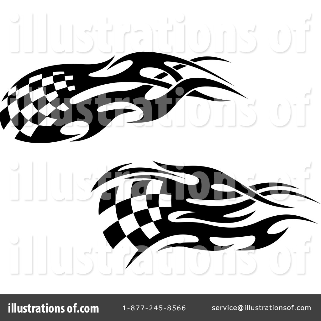 Checkered Flags Clipart #1112019 - Illustration by Vector Tradition SM