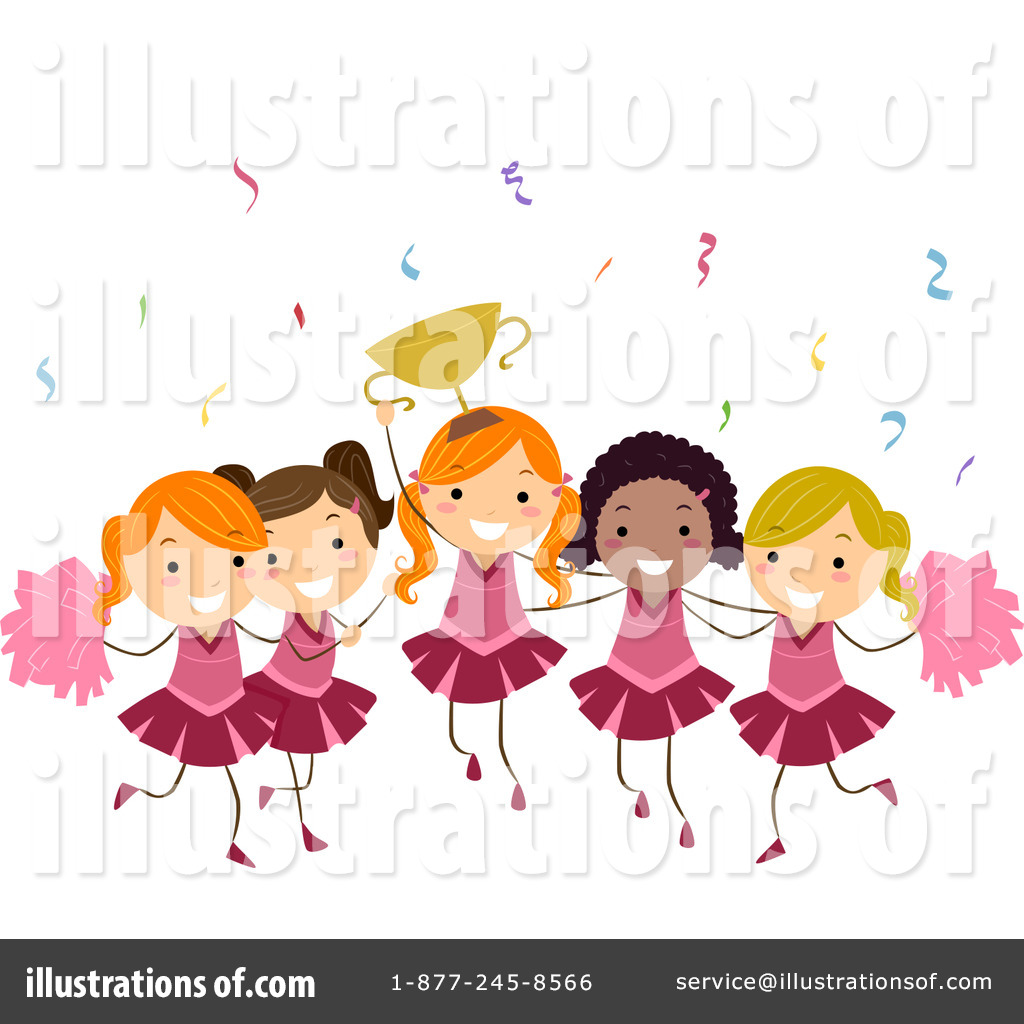 cheerleaders clipart 1070010 illustration by bnp design studio rh illustrationsof com cheerleader clipart images cheerleader clipart megaphone