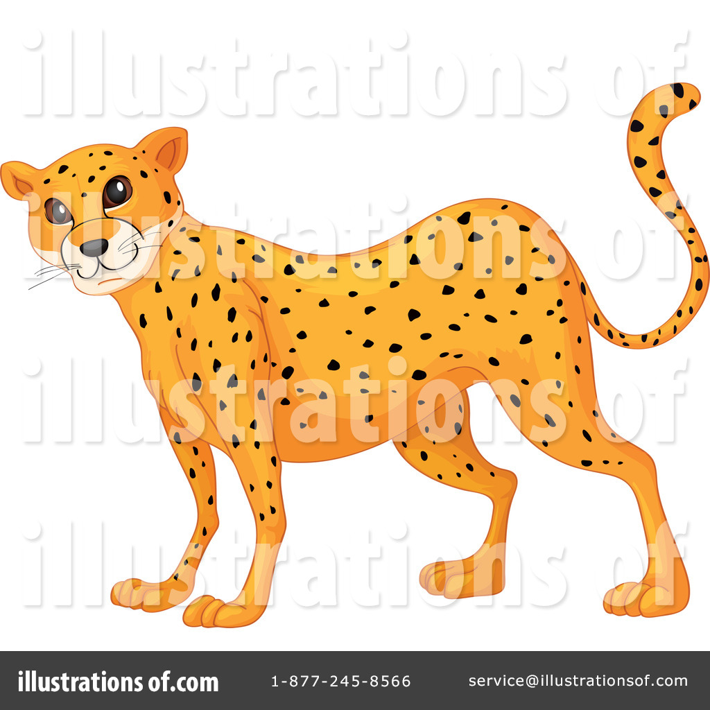 Cheetah Clipart #1120933 - Illustration by colematt