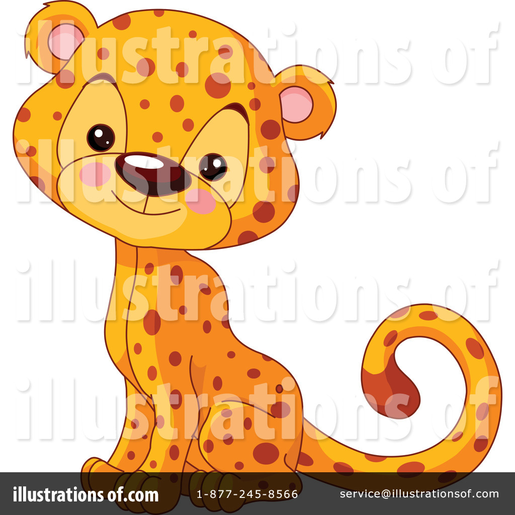 Cheetah Clipart #1257064 - Illustration by Pushkin