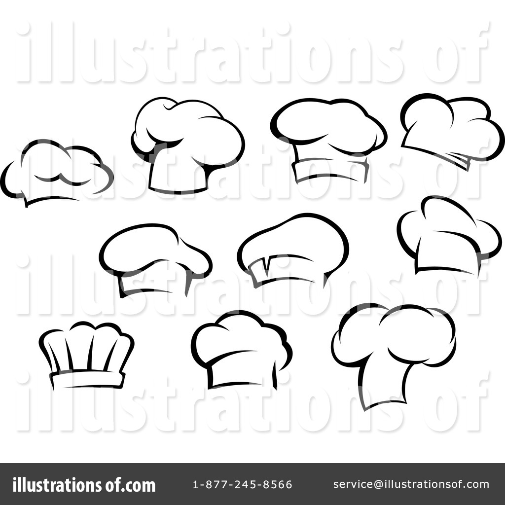 Chef Hat Clipart #1145291 - Illustration by Vector Tradition SM