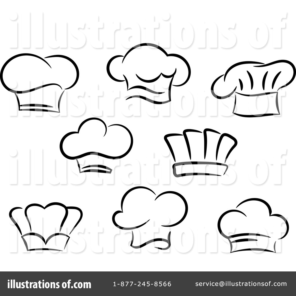 Chef Hat Clipart #1223077 - Illustration by Vector Tradition SM