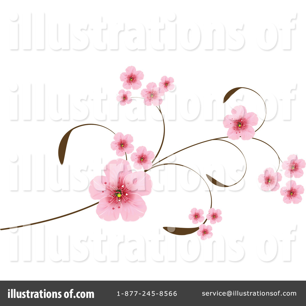 Cherry Blossoms Clipart #1045531 - Illustration by Pushkin