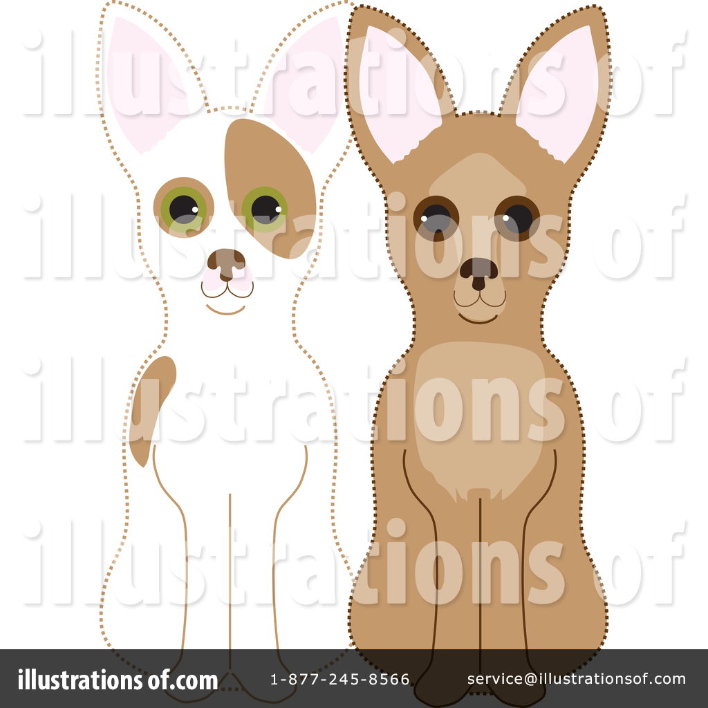 Chihuahua Clipart #1367963 - Illustration by Maria Bell